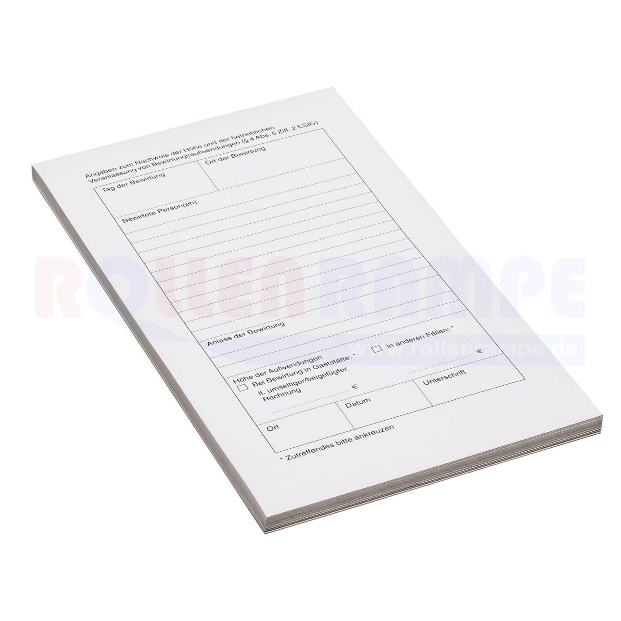 Thermo-Guest-Cheques Bewirtungsbelege 120x210 liegend