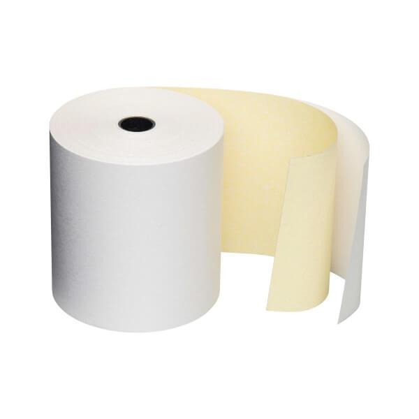 2-fach Kassenrollen mit Durchschlag 76/60/12 -14m CB/CF weiß/weiß