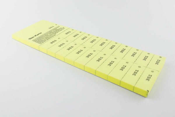 Zehnerkarten zur Kundenbindung mit 20 Abrissen - 50 Blatt je Block
