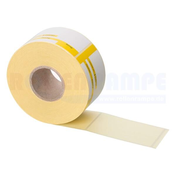 Thermo-Haftetiketten Mettler 46,8mm x 81mm - 2 farbig Standarddruck