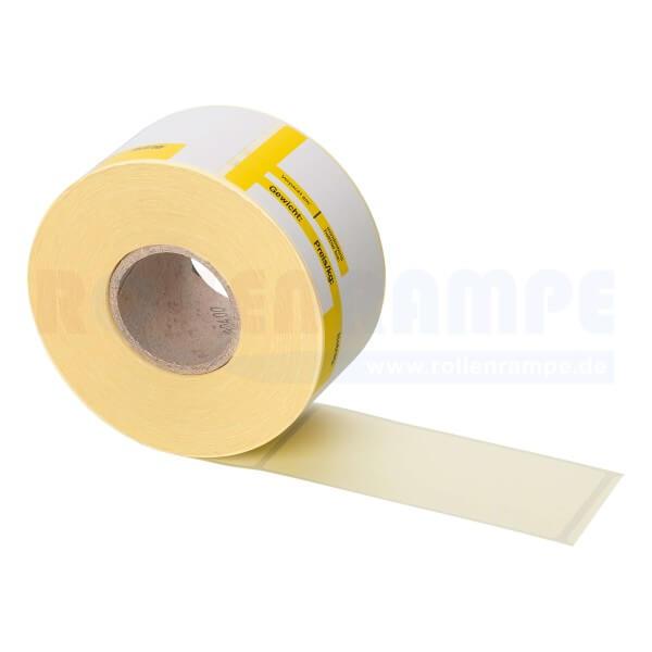 Thermo-Haftetiketten Mettler 47mm x 101mm - 2 farbig Standarddruck